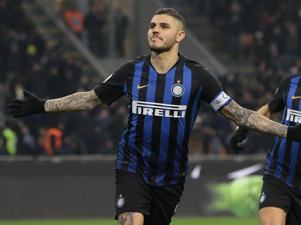 Rapid bekommt es in der EL mit Mauro Icardis Inter zu tun. © Getty Images/Emilio Andreoli