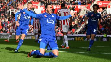 Iborra celebra un gol ante el Stoke City en la Premier. (Foto: Getty)