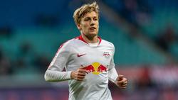 Schaut gut gelaunt seinem Comeback bei RB Leipzig entgegen: Emil Forsberg