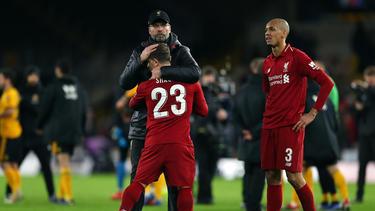 Jürgen Klopp musste die Liverpool-Profis trösten