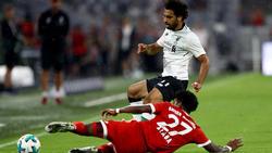 David Alaba trifft mit seinen Bayern auf den FC Liverpool um Superstar Mohamed Salah (hinten)