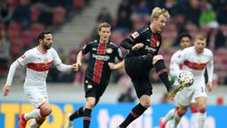 Julian Brandt (r.) siegte mit Bayer Leverkusen beim VfB Stuttgart