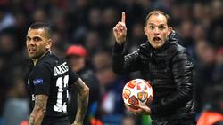 Thomas Tuchel (r.) spürt Gegenwind bei PSG