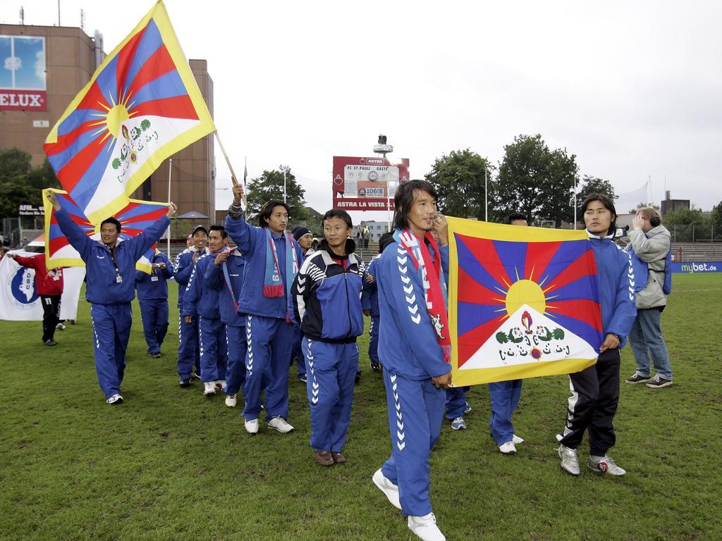 Die Auswahl Tibets beim FIFI Wild Cup 2006