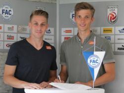 Elias Felber (r.) spielt künftig in der 2. Liga