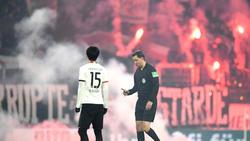 Fans von Eintracht Frankfurt sorgen für Pyro-Eklat