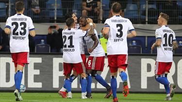 Die Hamburger siegten in der Nachspielzeit gegen Sandhausen