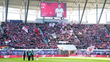 Imagen del estadio del Leipzig ante el Leverkusen.