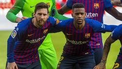 Nelson Semedo (r.) fehlt dem FC Barcelona bei Vorbereitung auf Restart
