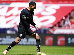 El meta de Toluca Luis García mantuvo la meta invicta por segundo partido.