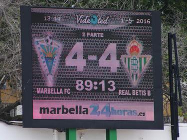 El Marbella remontó un 1-4 ante el Real Betis B. (Foto: Juan Zamora)
