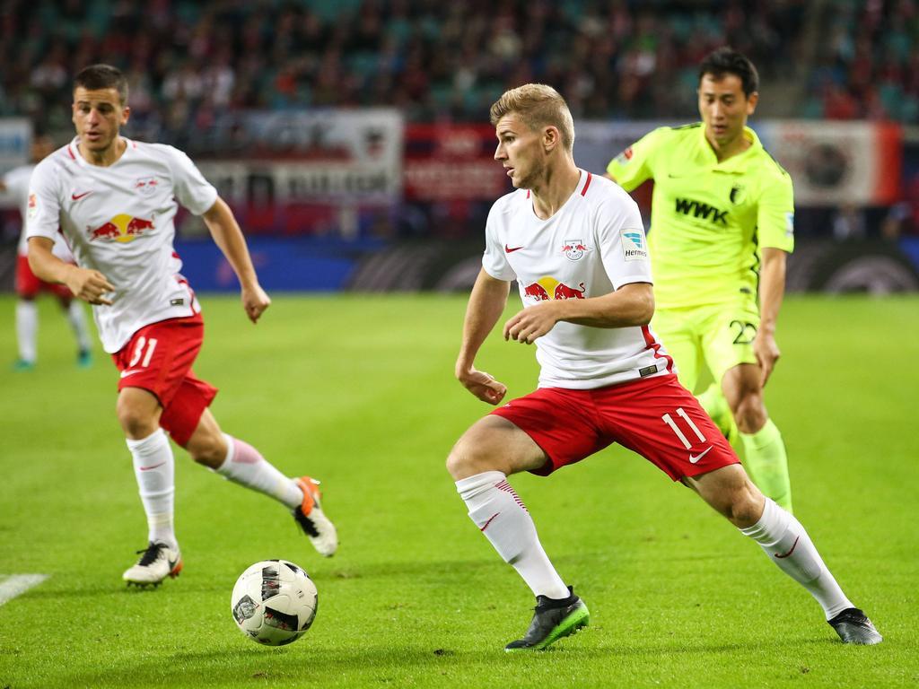 Werner (r.) ist schnell und stark am Ball