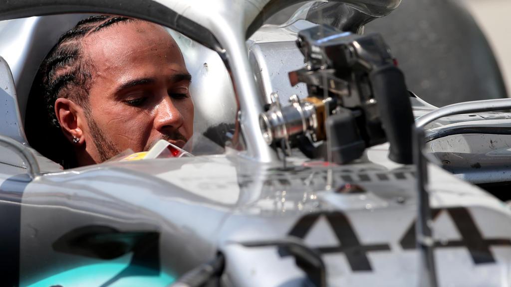 Am Auto von Lewis Hamilton musste am Sonntagmorgen noch gearbeitet werden