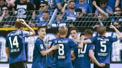 Will den Sprung von der 3. in die 2. Liga schaffen: Der SV . Foto: Silas Stein