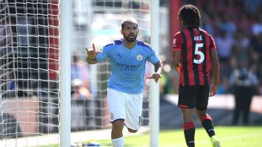 Sergio Agüero war gegen Bournemouth der Matchwinner