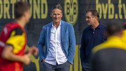 BVB-Funktionär Michael Zorc (r.) bleibt positiv