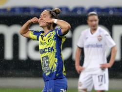Kapitänin Jasmin Eder zeigte ihre Freude unverhohlen