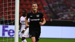 Will auch im Rückspiel gegen Nizza (ab 21:00 Uhr live auf RTL NITRO) wieder treffen: Florian Wirtz