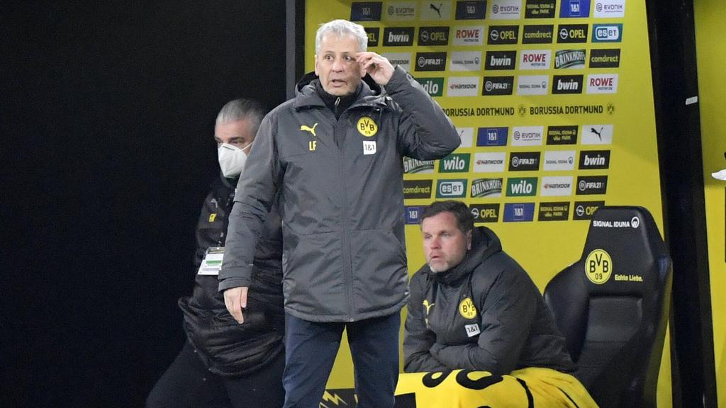BVB-Trainer Lucien Favre ärgerte sich über die Niederlage gegen den 1. FC Köln