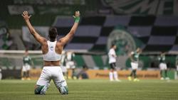 Torschütze Gabriel Menino von Palmeiras hat allen Grund zur Freude