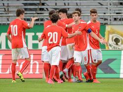 In der zweiten Hälfte drehten die ÖFB-Youngsters das Spiel