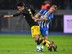 Kagawa (li.) erzielte den Ausgleich für den BVB