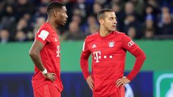 Bleiben David Alaba (l.) und Thigao (r.) beim FC Bayern?