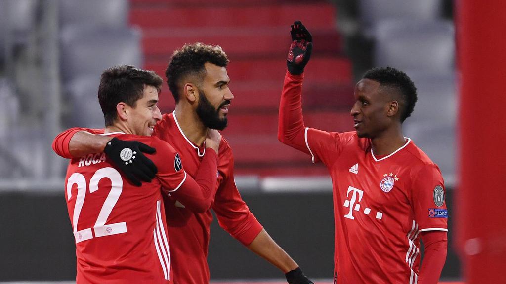 Drei Neuzugänge des FC Bayern: Roca, Choupo-Moting und Sarr