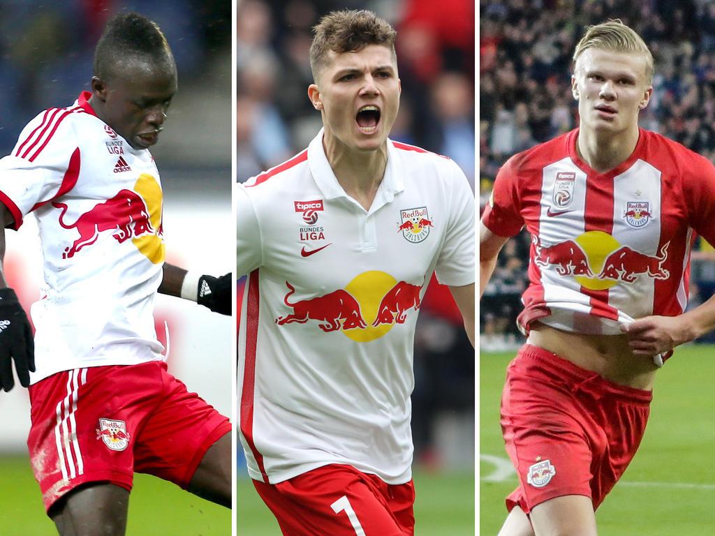 Die heutigen Superstars Sadio Mané, Marcel Sabitzer und Erling Håland kickten einst in Salzburg