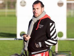 Warner Hahn komt kijken bij de wedstrijd tussen Feyenoord A1 en Ajax A1. De goalie keept momenteel voor Feyenoord, maar stond in de jeugd ook onder contract bij de Amsterdammers. (16-01-2016)