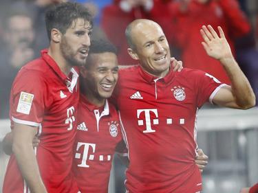 Javi Martínez, Thiago y Robben celebran un tanto. (Foto: Imago)