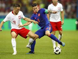 James Rodríguez und die Kolumbianer haben sich gegen Polen eindrucksvoll zurückgemeldet