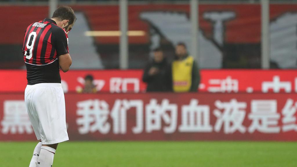 Higuaín nach Ausraster gegen Ex-Klub gesperrt