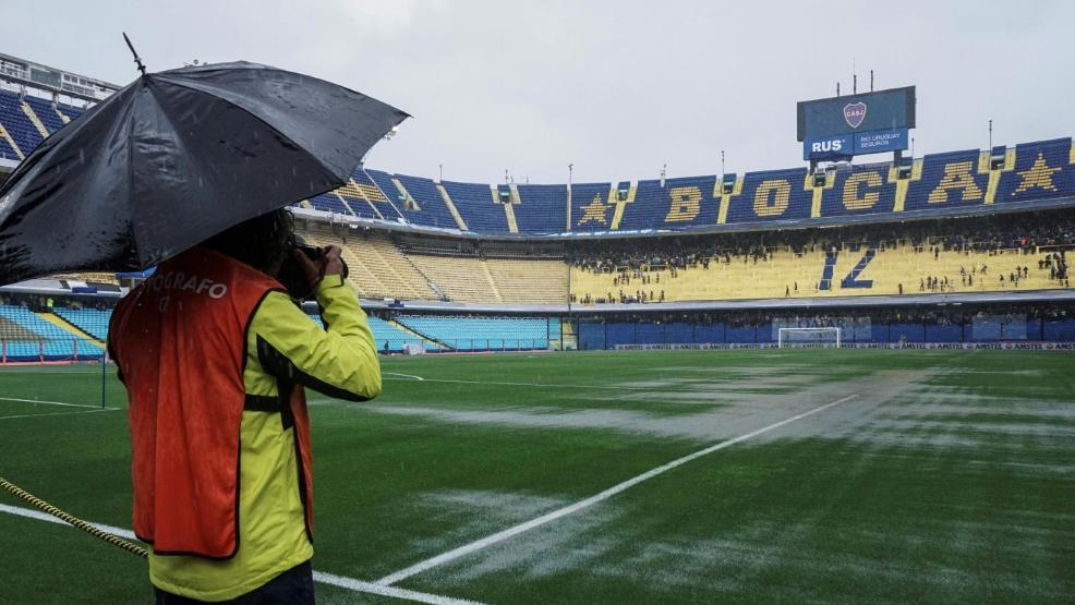 Unwetter in Buenos Aires: Das Final-Hinspiel wurde auf Sonntag verschoben