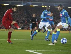Liverpools Goalgetter Salah fixierte den 1:0-Sieg gegen Napoli