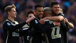 Klaas Jan-Huntelaar traf im Pokalfinale doppelt für Ajax