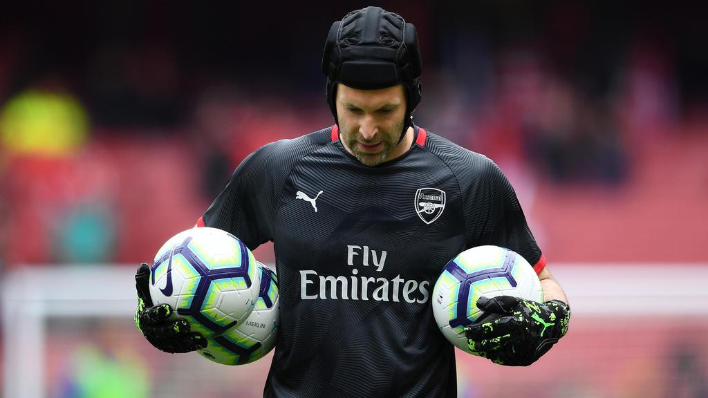 Arsenals Torwart Petr Cech beendet nach dem Finale der Champions League seine Karriere