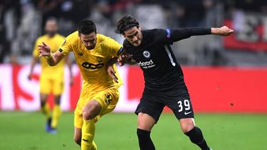 Eintracht Frankfurt unterlag am Donnerstagabend in Belgien
