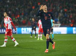 So viele Tore schoss Bayern-Star Robert Lewandowski in Belgrad