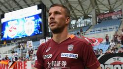 Im Halbfinale saß Lukas Podolski 90 Minuten auf der Bank