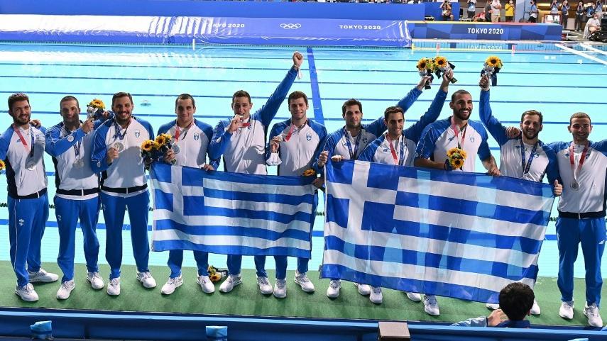 Die griechischen Wasserballer holten in Tokio Silber