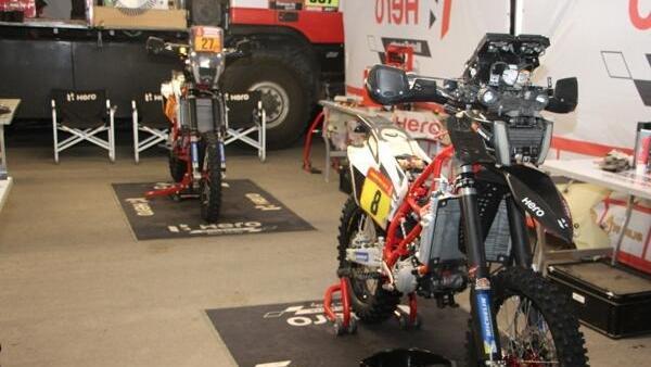 Das Hero-Team wird die zweite Dakar-Woche nicht zu Ende fahren