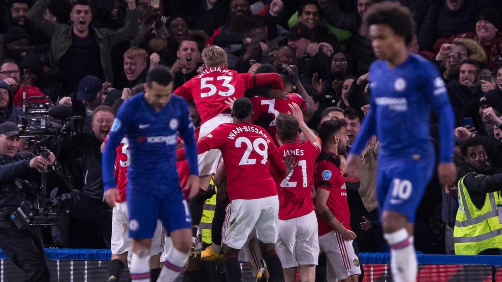ManUnited jubelte an der Stamford Bridge