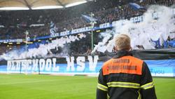 Der HSV sorgte mit seiner legalen Pyro-Show für Aufsehen