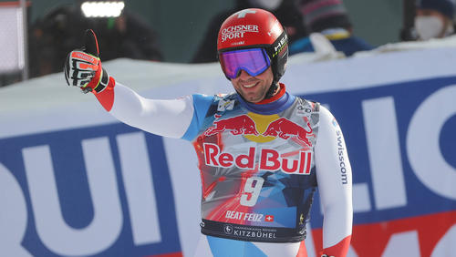 Beat Feuz gewann auch die zweite Abfahrt von Kitzbühel