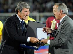 Selbstbewusster Altstar: Dino Zoff (l.) hält sich nach wie vor für den besten Italien-Torwart aller Zeiten