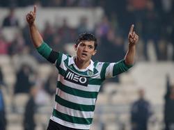 Fredy Montero bejubelt einen seiner Treffer für Sporting