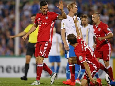 Robert Lewandowski war Bayerns Mann des Abends