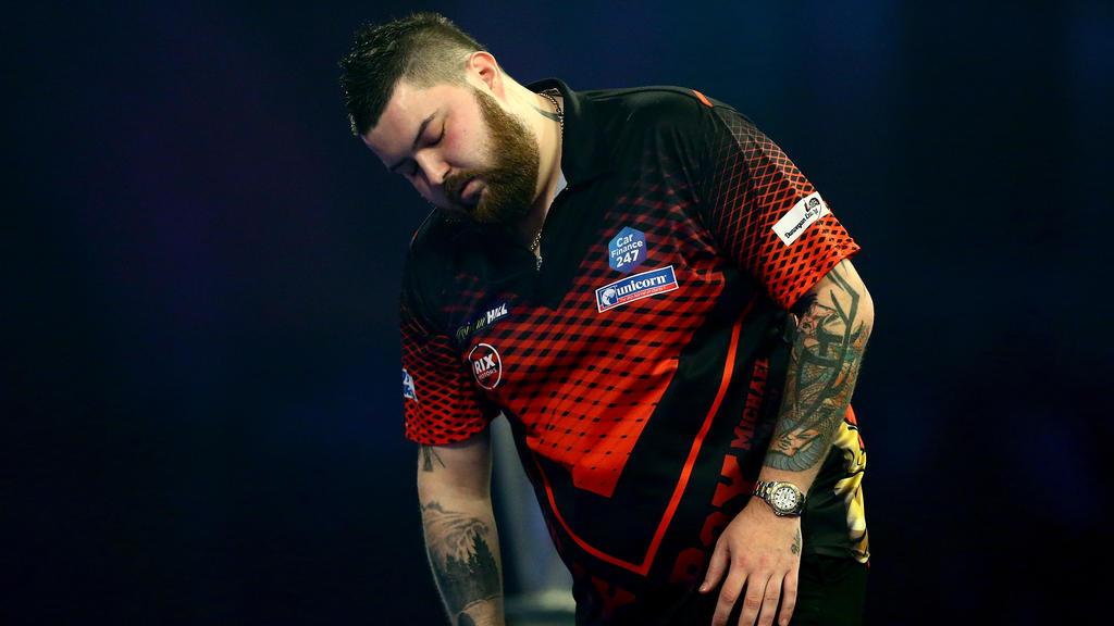 Michael Smith war zu Beginn des Darts-WM-Finales zu nervös