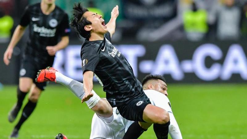 Makoto Hasebe zog sich gegen Inter einen Nasenbeinbruch zu